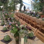 Stunning floral laid tables - Copy