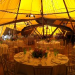 Late summers Tipi wedding
