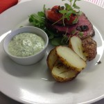 Roast Somerset Beef fillet with watercress-horseradish creme