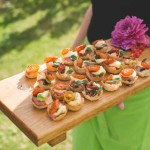 Canapes being served