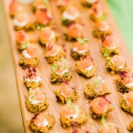 canapes, carrot rosti with smoked salmon